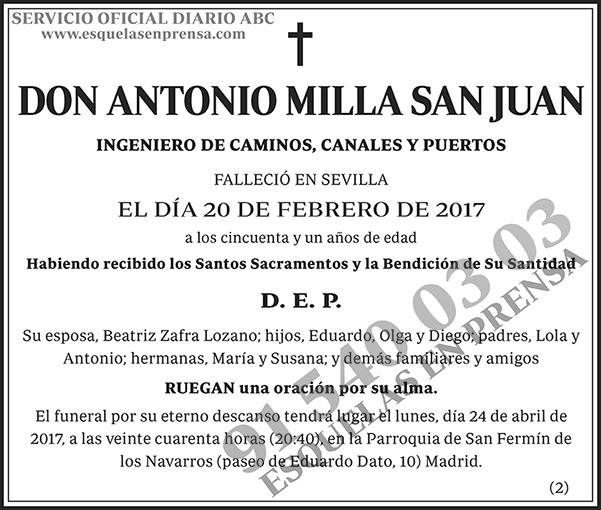 Antonio Milla San Juan